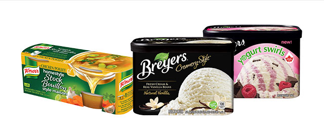 Select Breyers Ice Cream + Knorr Homestyle Stock coupon