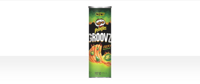Pringles Groovz* Fiery Jalapeño Flavour Potato Chips coupon