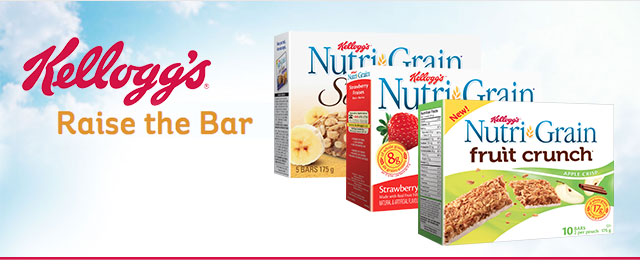 Nutri-Grain* cereal bars coupon