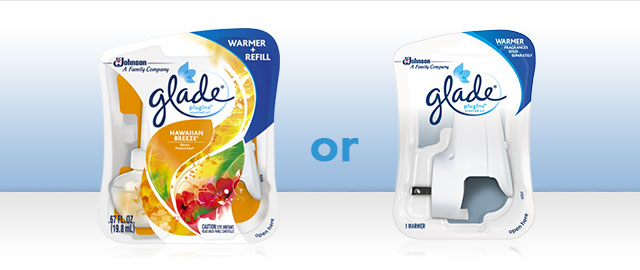 Glade® PlugIns® Scented Oil Starter Kit or Warmer coupon
