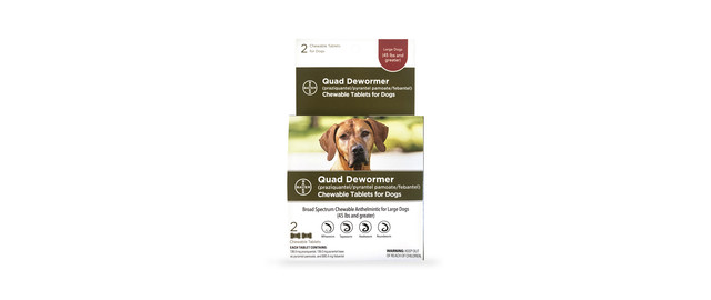 Quad Dewormer for Small, Medium, and Large Dogs coupon