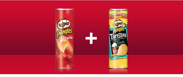 Combo: Pringles chips + Pringles Tortilla chips coupon