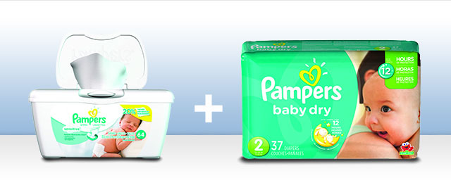 Combo: Pampers Diapers + Wipes coupon