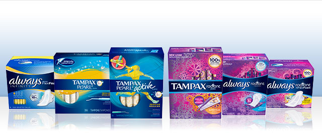 Always or Tampax Infinity, Pearl or Radiant products coupon