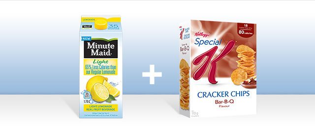 Combo: Special K Cracker Chips + Minute Maid beverages coupon
