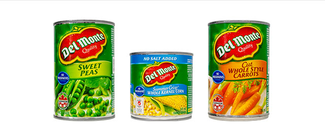 Del Monte canned vegetables coupon
