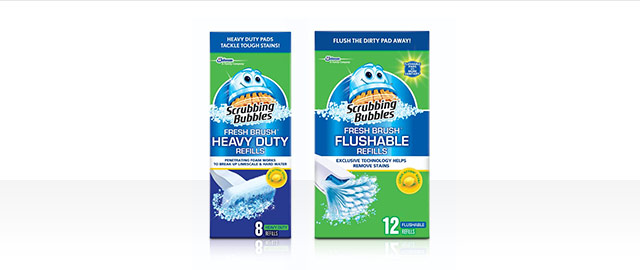 At Select Retailers: Buy 2 Scrubbing Bubbles® Fresh Brush® Refills  coupon