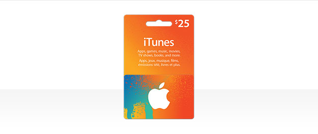 $25 iTunes card coupon