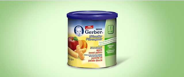 NESTLÉ® GERBER® Lil' Crunchies® Apple Sweet Potato coupon