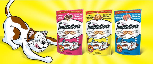 TEMPTATIONS® SAVOURY CAT TREATS coupon