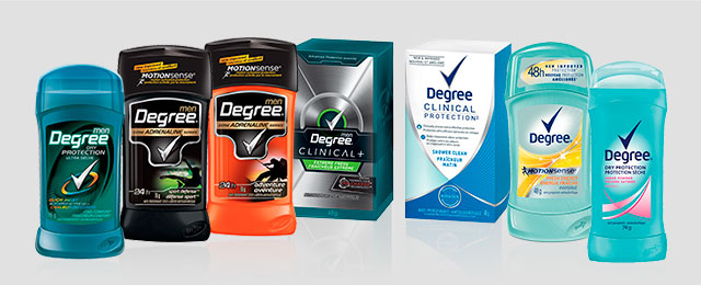 Buy 3: Degree anti-perspirant or deodorant coupon