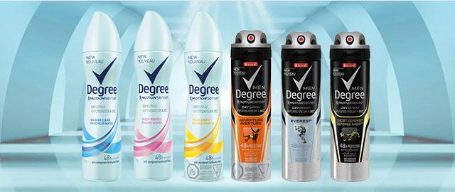 Degree Dry Spray anti-perspirant or deodorant coupon