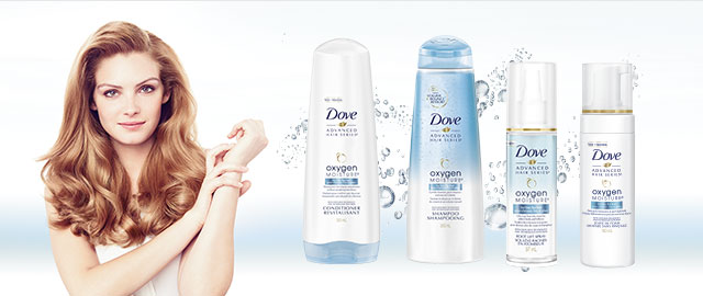 Dove Oxygen Moisture™ hair care products coupon
