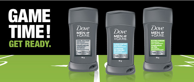 Dove Men+Care® deodorant or anti-perspirant stick coupon