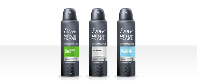 Antisudorifique en vaporisateur à sec Dove Men+Care® coupon
