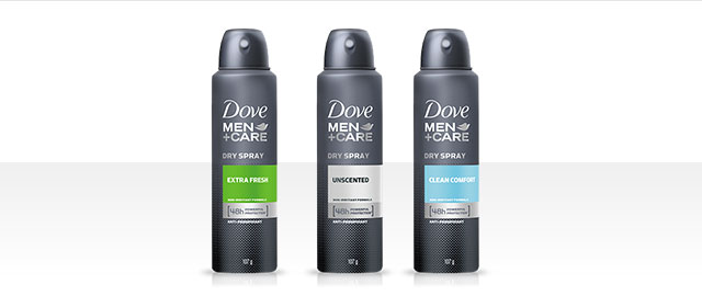 Dove Men+Care® Dry Spray Antiperspirant coupon