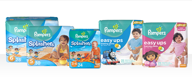 Pampers Easy Ups or Splashers coupon