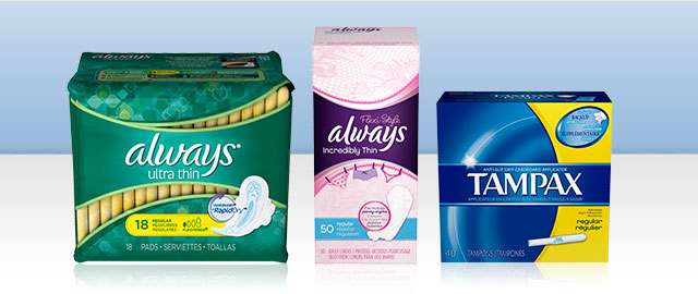 Buy 2: Select Tampax or Always products coupon