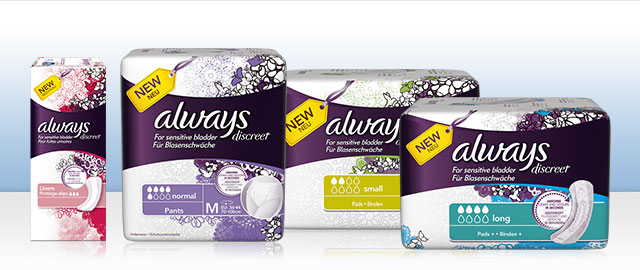 Always Discreet Adult Incontinence products coupon