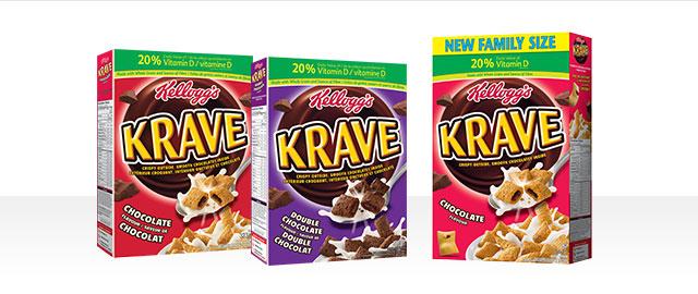 Buy 2: Kellogg's Krave™ Cereal coupon