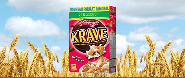 Achetez 2: Céréales Kellogg's Krave* coupon