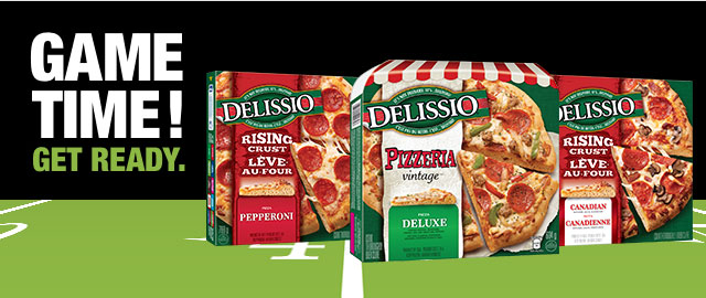 Buy 2: DELISSIO® Rising Crust or Vintage Pizzeria pizza coupon