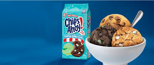 CHIPS AHOY! Ice Cream Creations Mint Chocolate Chip cookies coupon