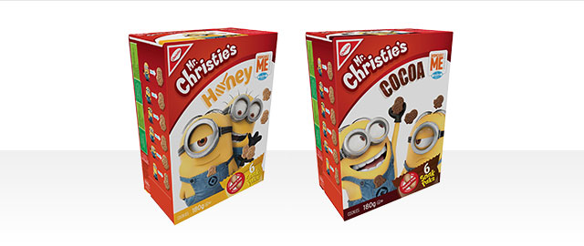 Mr. Christie's Despicable Me Snak Paks coupon