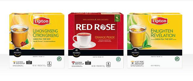 Chez Walmart: Dosettes K-Cup® Lipton® et Red Rose® coupon