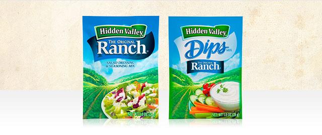 Hidden Valley® Ranch Seasoning Mixes & Dips coupon