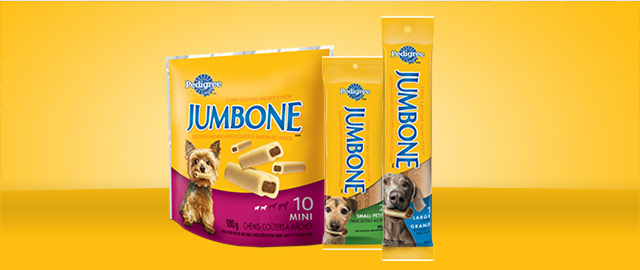 PEDIGREE® JUMBONE® Treats for Dogs coupon