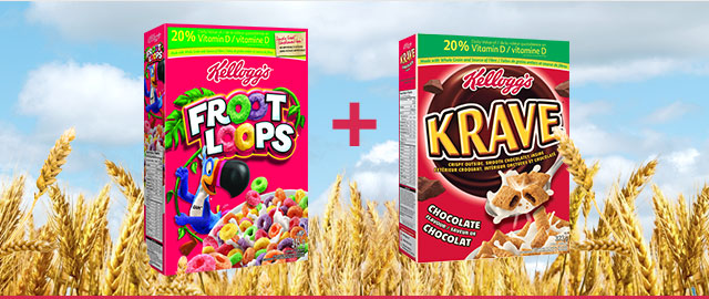 COMBO: Kellogg's* Froot Loops* + Kellogg's Krave™ Cereal coupon