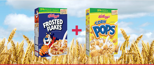COMBO: Kellogg's* Frosted Flakes* + Kellogg's* Corn Pops* Cereal coupon