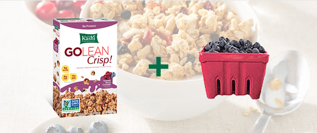 Combo: Kashi® Cereal + Blueberries coupon