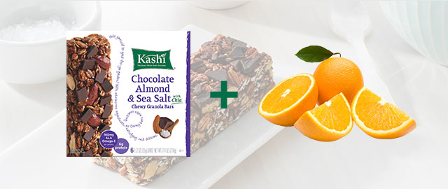 Combo: Kashi® snack bars + Oranges coupon