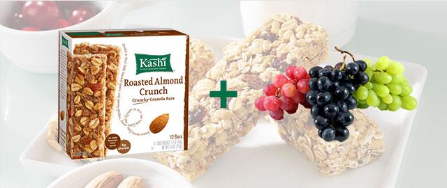 Combo: Kashi® snack bars + Grapes coupon