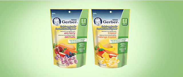 Buy 2: NESTLÉ® GERBER Fruit & Veggie Melts™  coupon