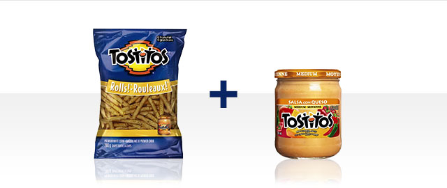 COMBO: Tostitos Rolls!™ Tortilla Chips + Tostitos® Salsa con Queso  coupon