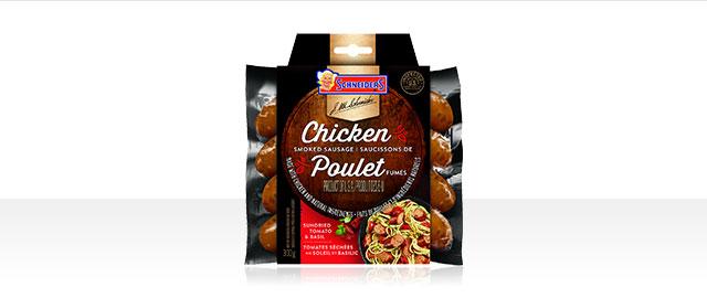 Saucissons de poulet fumés aux tomates séchées au soleil et basilic Schneiders®  coupon