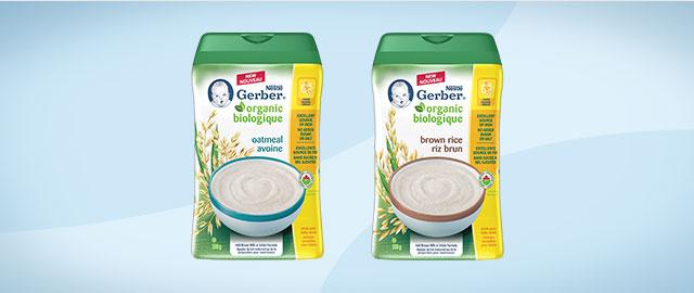 Céréales pour bébés NESTLÉ GERBER Biologiques coupon