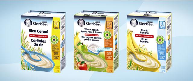 Achetez 2: Céréales pour bébés NESTLÉ GERBER coupon