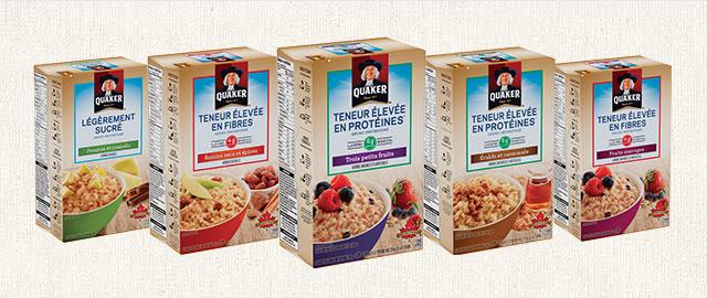 Sélection de produits de gruau instantané Quaker® coupon