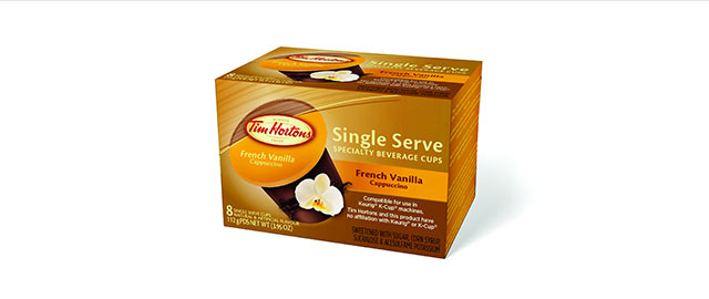At Select Retailers: Tim Hortons French Vanilla Cappuccino  coupon