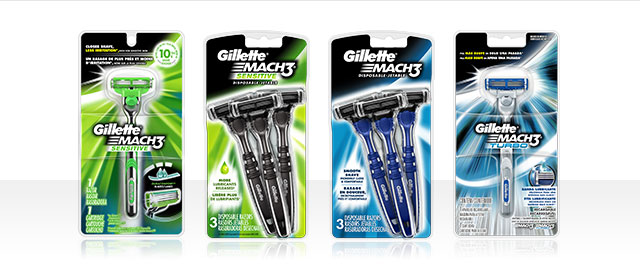Gillette® Mach3® Razors or Sensor3® Disposable Razors coupon