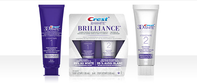 Crest® 3D White Brilliance 2 Step Toothpaste System coupon