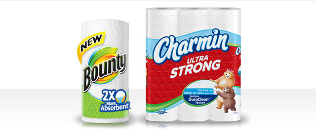 Bounty® or Charmin® products coupon