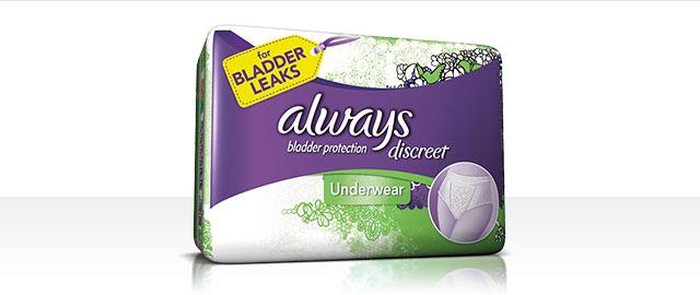 Always®  Discreet Underwear coupon
