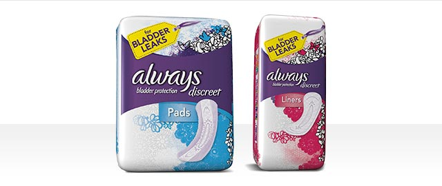 Always® Discreet Liners or Pads coupon