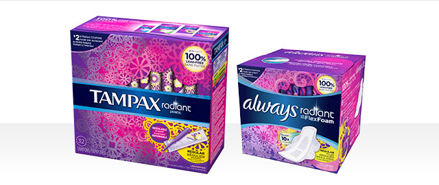 Always® or Tampax® Radiant Collection products coupon