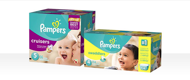 Pampers® Swaddlers or Cruisers Boxes coupon
